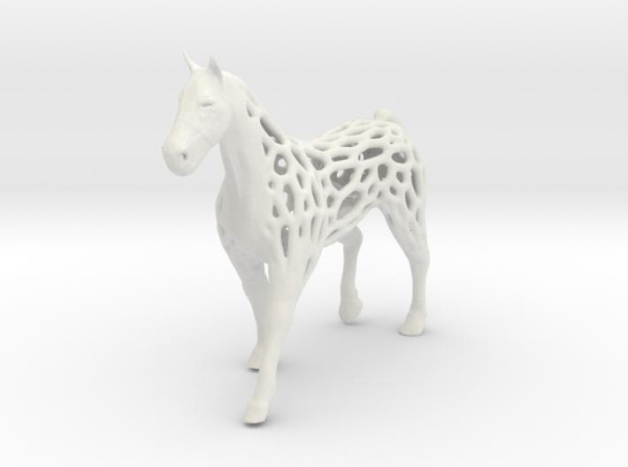 voronoi horse 2mm 3d printed