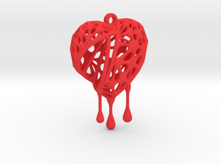 Open Heart Earring (Small001) 3d printed
