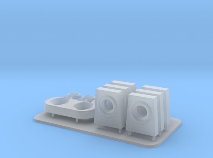 1/96 scale Lewis and Clark Stern Parts 3d printed