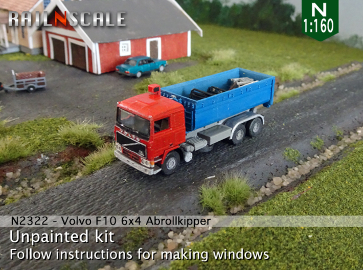Volvo F10 6x4 Abrollkipper mit Abrollcontainer N 3d printed