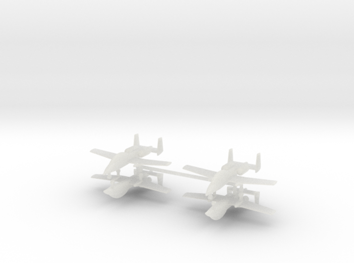 1/600 Two-Seater A-10 Thunderbolt II (Unarmed) (x4 3d printed