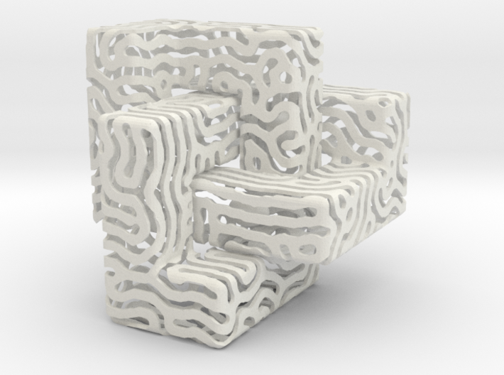 Cubic Knotty Nest with Eggs 3d printed
