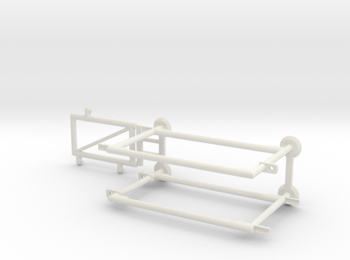 6' Chain-link Man Gate Frame 3d printed Part # CLBF-012