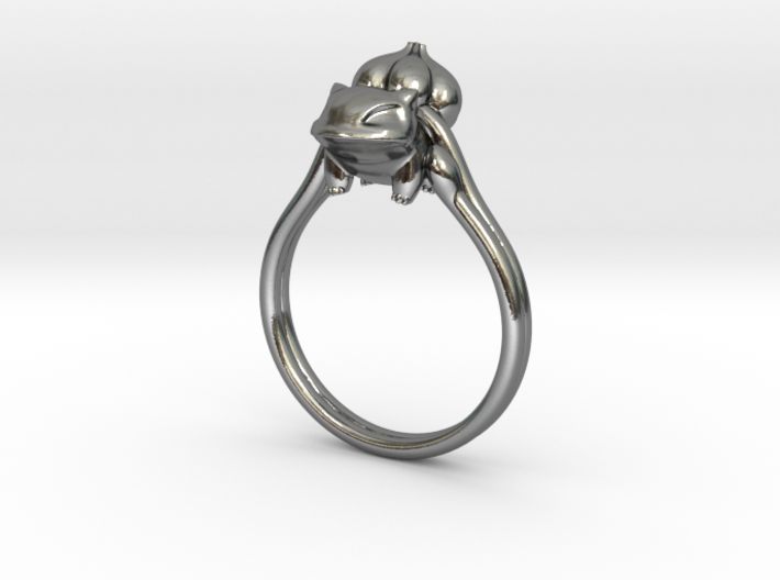 Bulbasaur Ring 3d printed