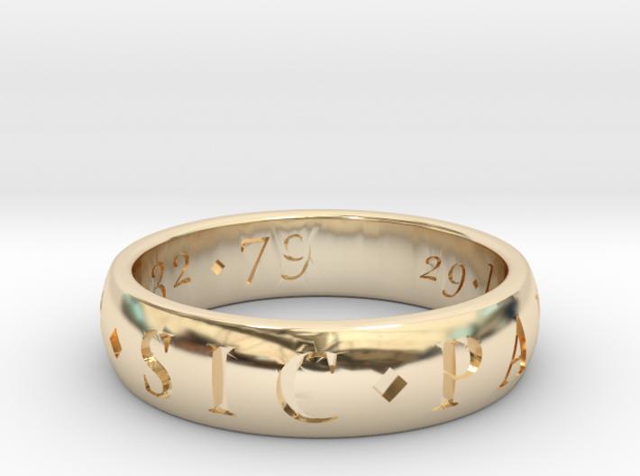 Sir Francis Drake Sic Parvis Magna Ring, Size US12 3d printed