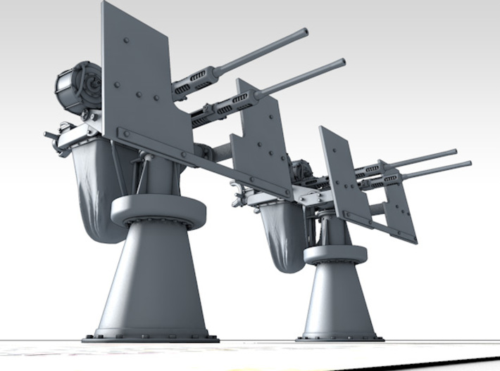 1/150 RN Twin 20mm Oerlikon MKIX x2 Non-Depressed 3d printed 3d render showing product detail