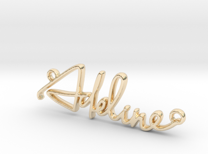 Adeline First Name Pendant 3d printed