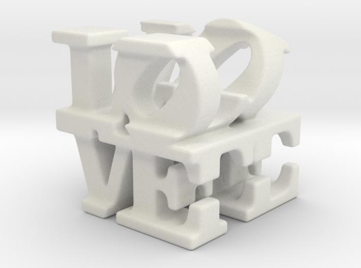 love/life - tiny (1cm) 3d printed