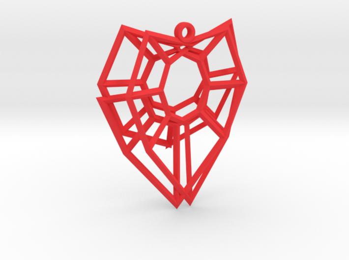Henneberg Surface Heart Earring (002) 3d printed