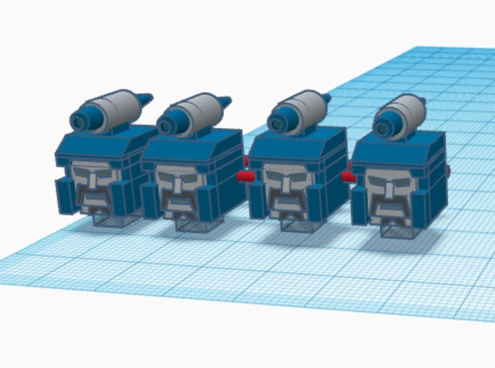 Heads for Sweep Kreons (Set 2 of 2) 3d printed Design in color