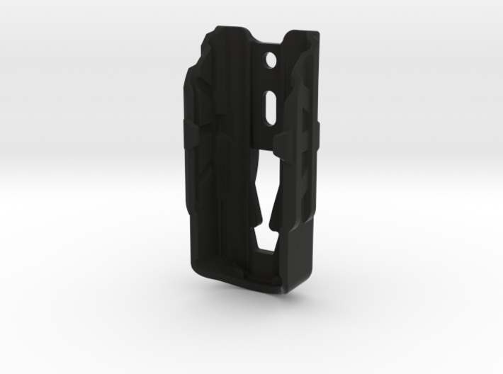 Holster, FREE P4, Mid-mount Metal Clip, Cropped 3d printed