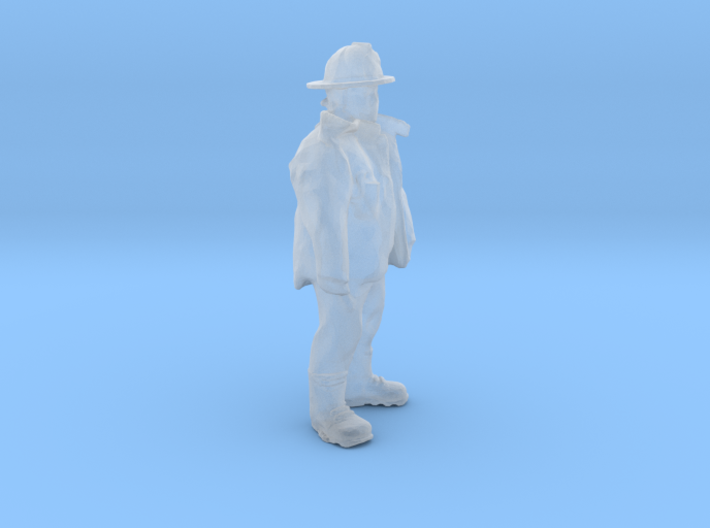 HO Scale Fireman 3d printed This is a render not a picture