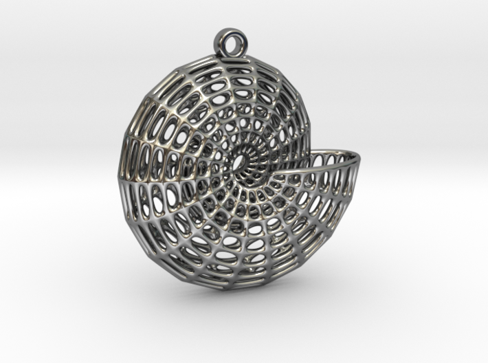 Voronoi Shell Pendant (001) 3d printed