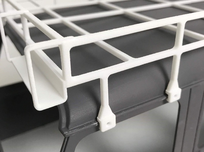 CA10005 Camel D110 Roof Rack 3d printed PLEASE NOTE: Parts shown in white for demonstration purposes only. All parts come in black