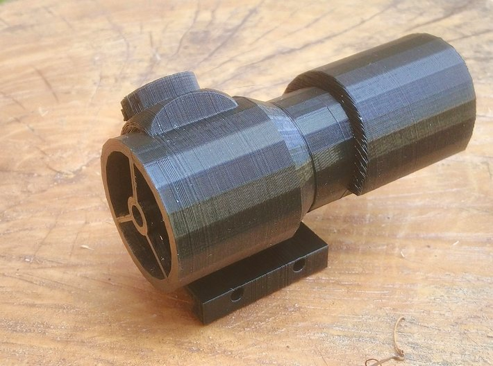 Hooded Red Dot Scope for Nerf Tactical Rail 3d printed
