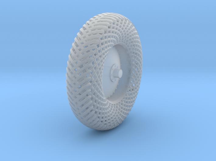 Meshed aft left wheel 3d printed