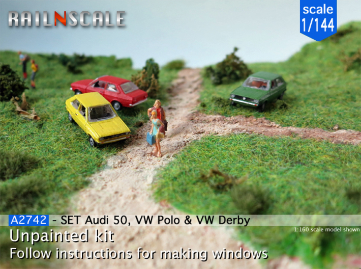 SET Audi 50, VW Polo & VW Derby (1/144) 3d printed