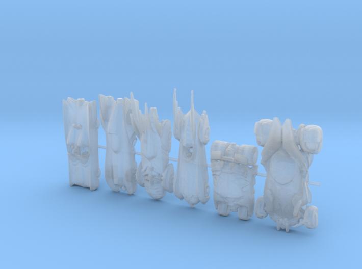 Batmobiles Round 1. 160 scale 3d printed