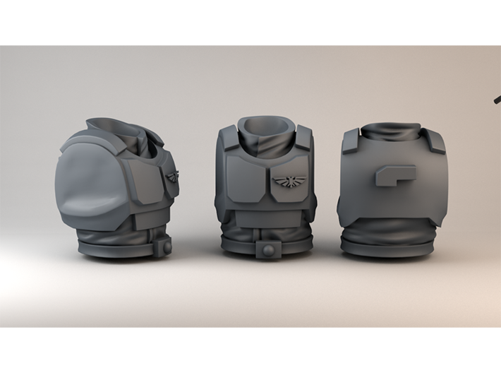 Imperial Guard Normal Ratio Chest Armor 3d printed