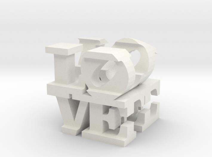 love/life - extralarge (25cm) 3d printed