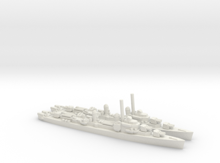 US Gearing-Class Destroyer (x2) 3d printed