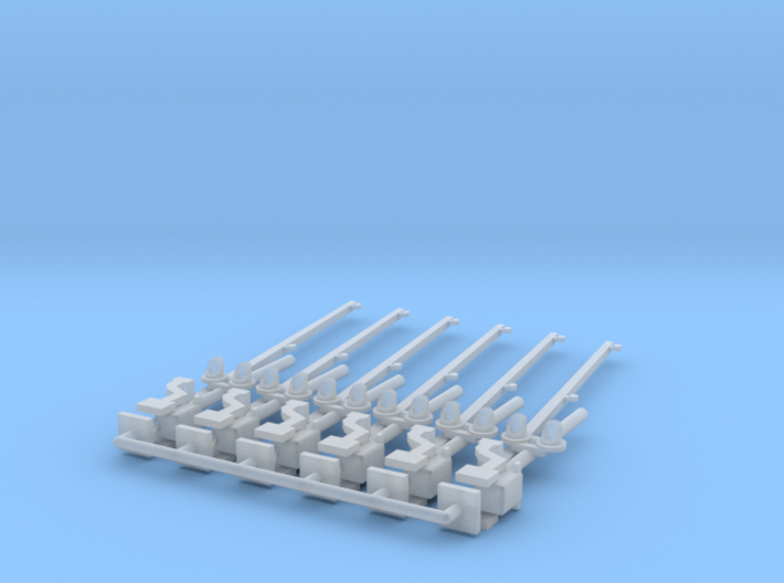 N Scale Crossing Gates 2 lanes LED 6pc 3d printed