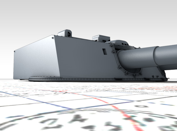 "1/700 Moltke Class 28cm/50 (11"") SK L/50 Guns x5 3d printed 3d render showing product detail"