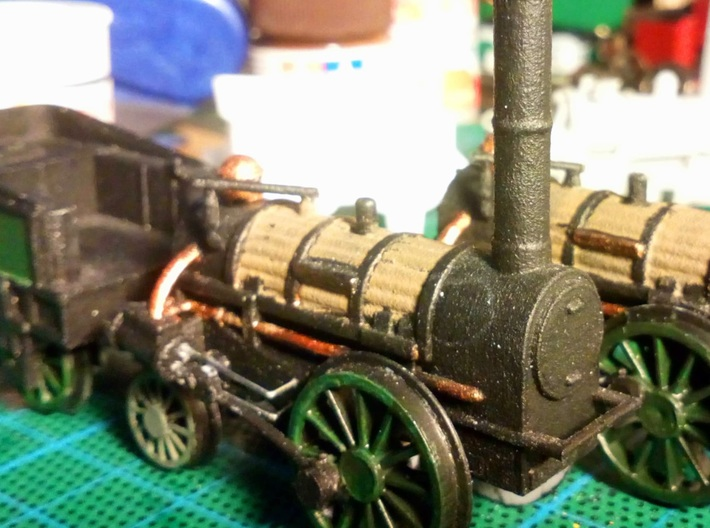 00 Scale Northumbrian Loco Scratch Aid 3d printed WNV painted (image kindly supplied by a customer).