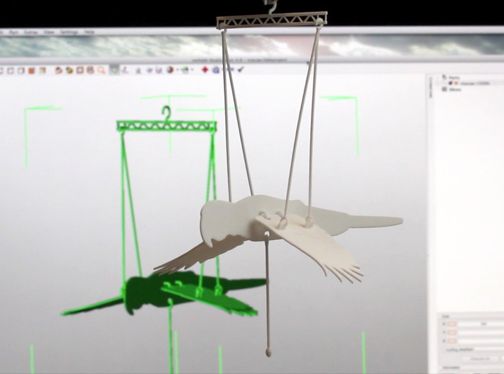 Flying Macaw 3d printed