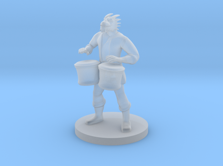 Male Dragonborn Bard with Bongos 3d printed