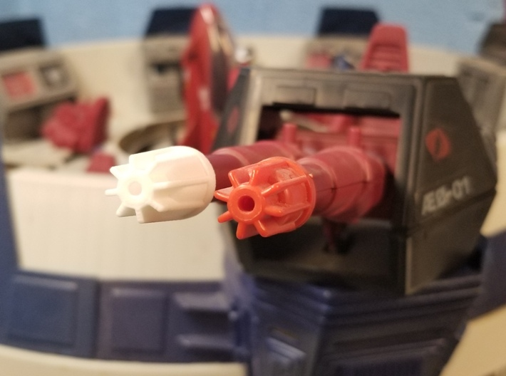 Terror Drome Cannon Tips (Small and Large, 4 each) 3d printed