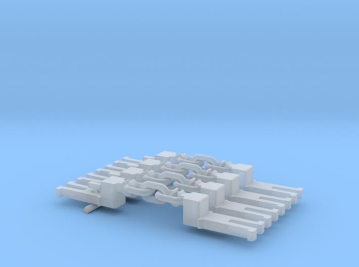 NEM OO Type 9 Couplings - Step Up 3 Link x4 3d printed