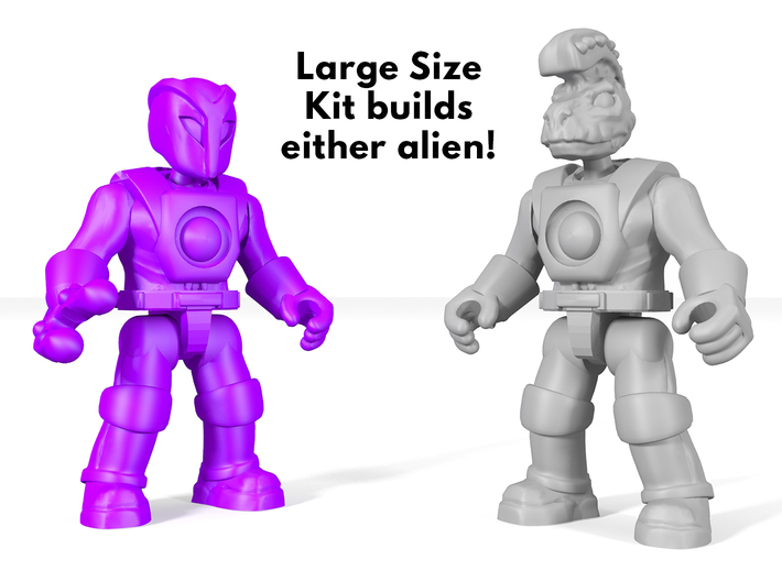Mysterious Alien PPH Kit  3d printed large kit provides 2 heads, 2 right arm options.