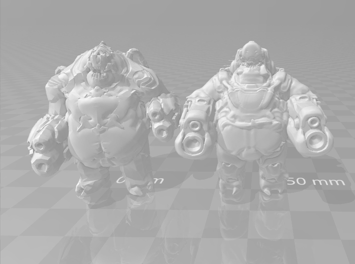 Doom Mancubus 2016 1/60 miniature games and rpg 3d printed