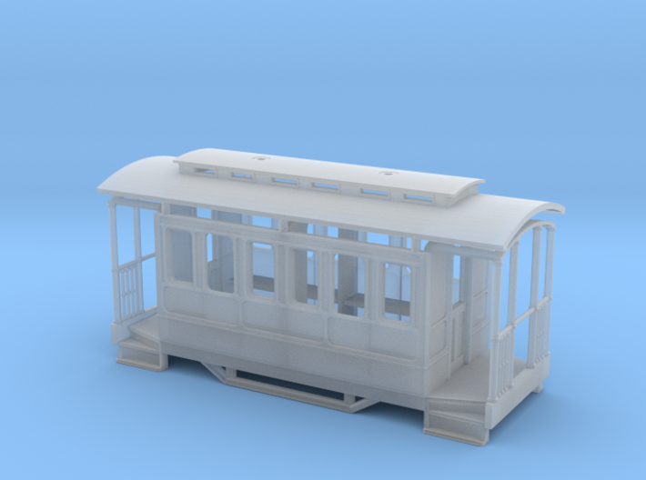 009 Tram Coach with clerestory roof                3d printed