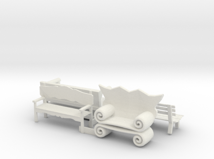 O Scale Benches 3d printed This is a render not a picture