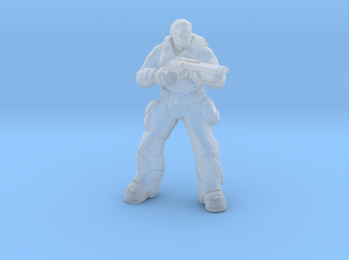 Gears of War Old Dom miniature for games and rpg 3d printed