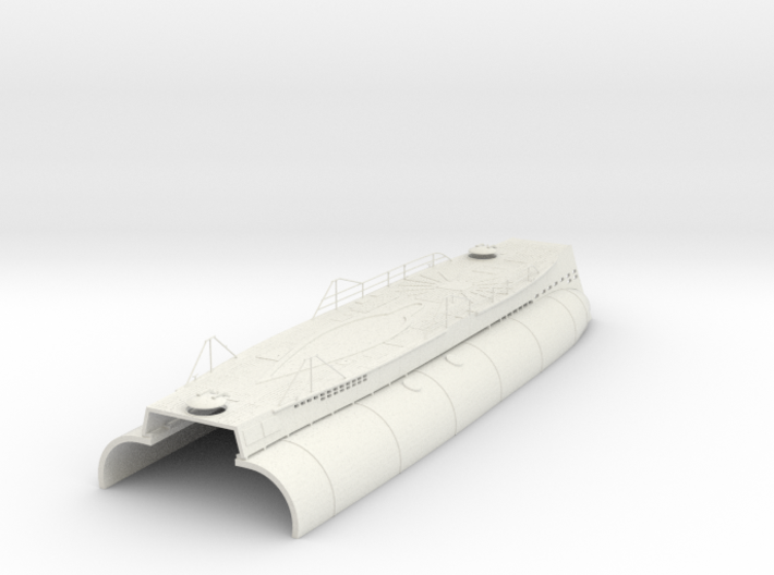 1/35 DKM U-boot VII/C Conning Hull-Deck Kit 3d printed