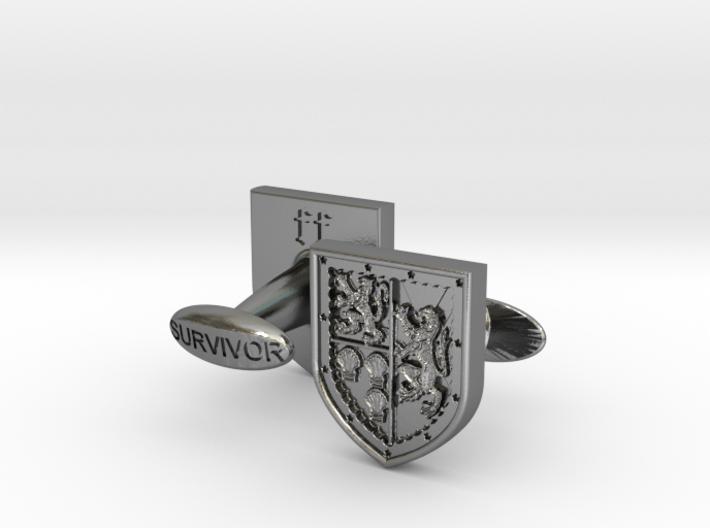 Heraldic Cufflinks (Stewart-Melville) 2 3d printed