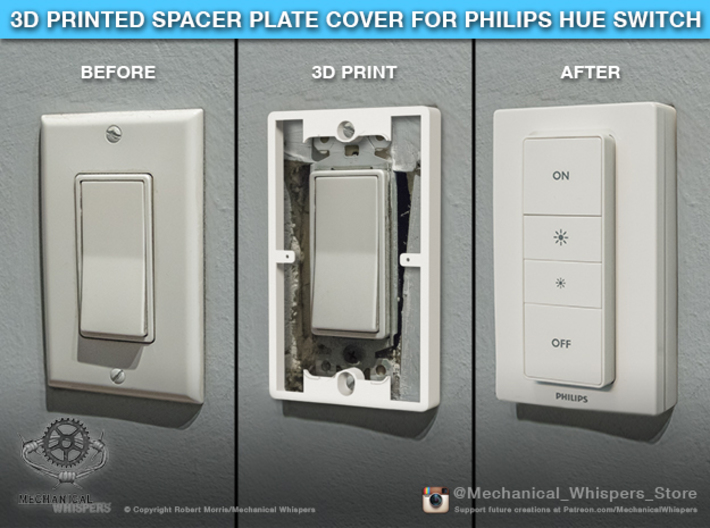 Philips Switch Decora Plate (Set of 10 Discounted) 3d printed