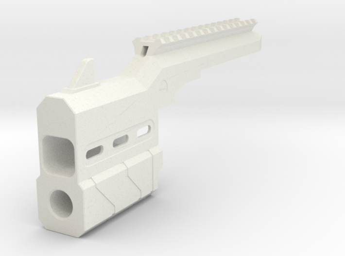 Proctor Barrel Mod with Top Rail for HammerShot 3d printed