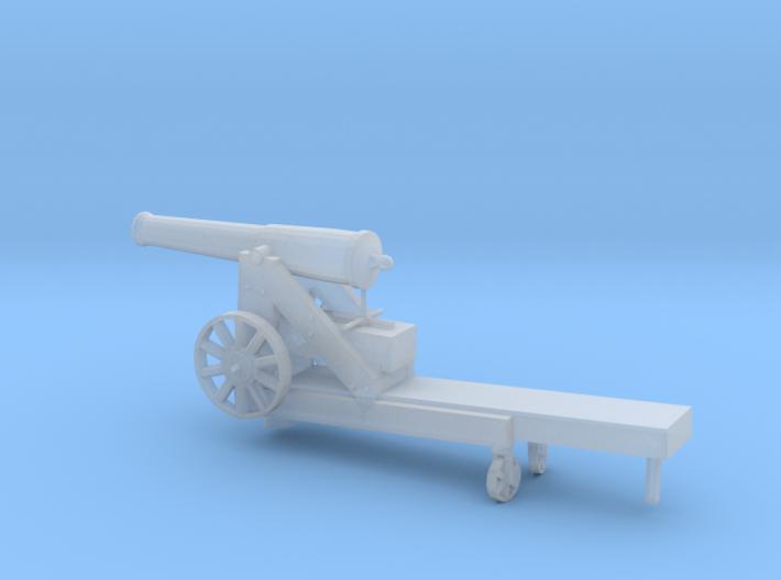 1/72 Scale Civil War 32-pounder M1845 Seacoast Gun 3d printed