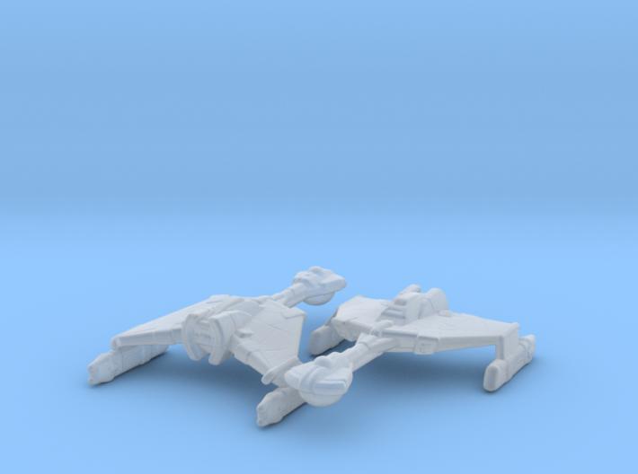 Klingon D6 1/7000 x2 3d printed