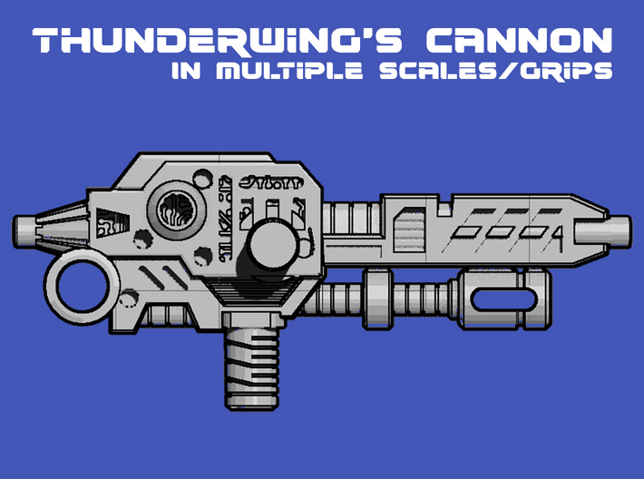 Thunderwing's Cyclone Cannon (3mm, 5mm) 3d printed product render