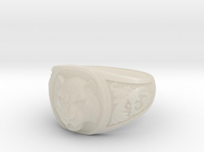 Tiger ring # 3 3d printed