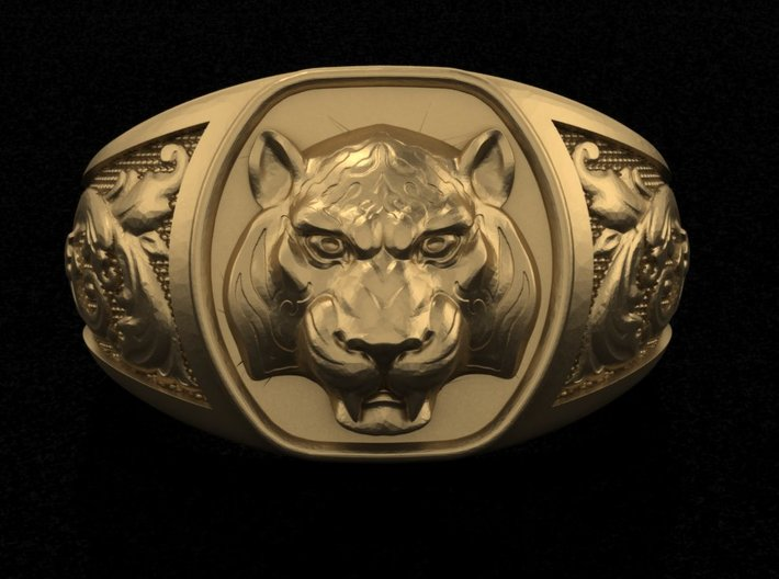 Tiger ring # 3 3d printed Add a caption...