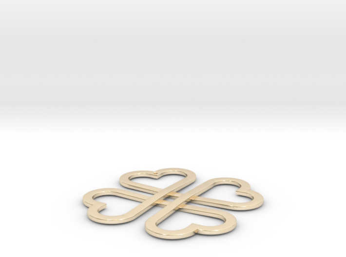 CloverKnot pendant 3d printed