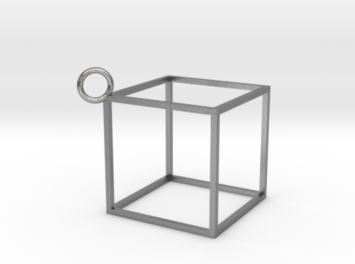 Square Earings - Pendant 3d printed