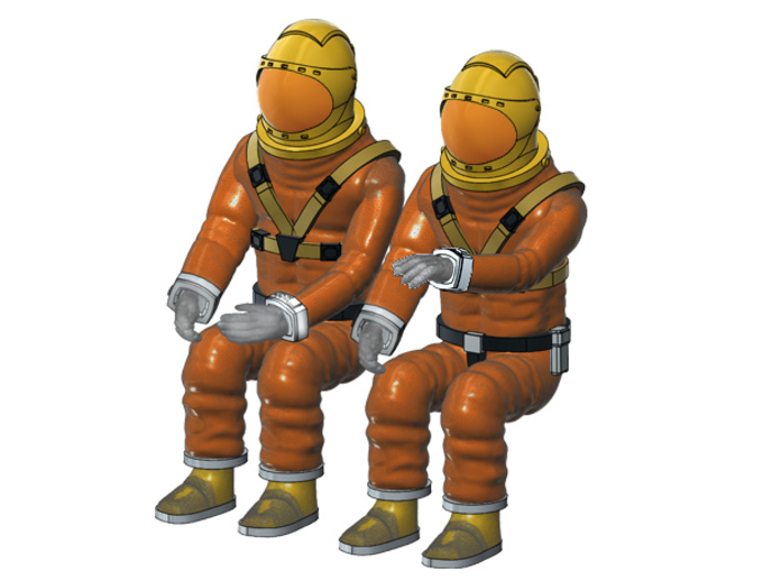 SPACE 2999 1/48 PILOT SET 3d printed Render of the current 3D file.