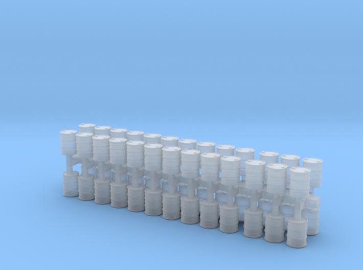 set oil drums Z scale 3d printed